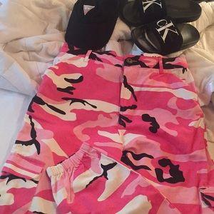 Pants - Pink Camouflage pants